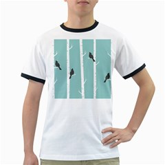 Birds Trees Birch Birch Trees Ringer T Shirts