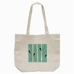 Birds Trees Birch Birch Trees Tote Bag (cream)