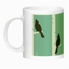 Birds Trees Birch Birch Trees Night Luminous Mugs