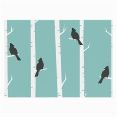 Birds Trees Birch Birch Trees Large Glasses Cloth