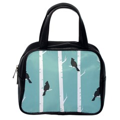Birds Trees Birch Birch Trees Classic Handbags (one Side)