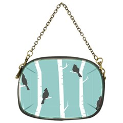 Birds Trees Birch Birch Trees Chain Purses (One Side)