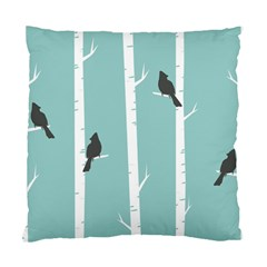 Birds Trees Birch Birch Trees Standard Cushion Case (two Sides)