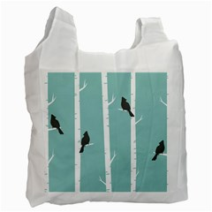 Birds Trees Birch Birch Trees Recycle Bag (one Side)