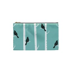 Birds Trees Birch Birch Trees Cosmetic Bag (small)