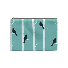Birds Trees Birch Birch Trees Cosmetic Bag (medium)