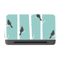 Birds Trees Birch Birch Trees Memory Card Reader With Cf