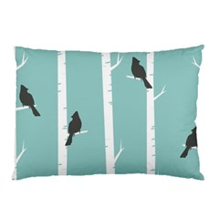 Birds Trees Birch Birch Trees Pillow Case (two Sides)