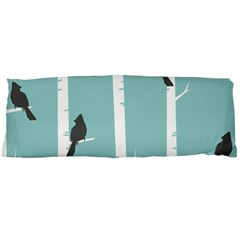 Birds Trees Birch Birch Trees Body Pillow Case (dakimakura)