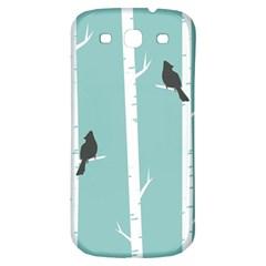 Birds Trees Birch Birch Trees Samsung Galaxy S3 S Iii Classic Hardshell Back Case