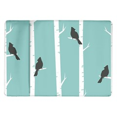 Birds Trees Birch Birch Trees Samsung Galaxy Tab 10 1  P7500 Flip Case
