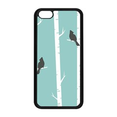 Birds Trees Birch Birch Trees Apple Iphone 5c Seamless Case (black)