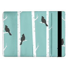 Birds Trees Birch Birch Trees Samsung Galaxy Tab Pro 12 2  Flip Case