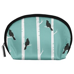 Birds Trees Birch Birch Trees Accessory Pouches (large)