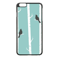 Birds Trees Birch Birch Trees Apple Iphone 6 Plus/6s Plus Black Enamel Case