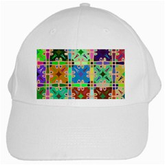 Abstract Pattern Background Design White Cap