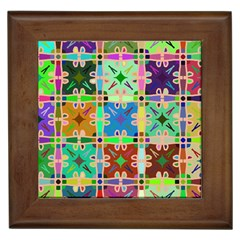 Abstract Pattern Background Design Framed Tiles