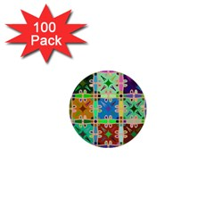 Abstract Pattern Background Design 1  Mini Buttons (100 Pack)