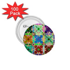 Abstract Pattern Background Design 1 75  Buttons (100 Pack)