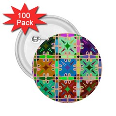 Abstract Pattern Background Design 2 25  Buttons (100 Pack)