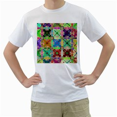 Abstract Pattern Background Design Men s T Shirt (white) (two Sided)