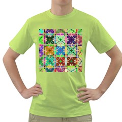 Abstract Pattern Background Design Green T Shirt