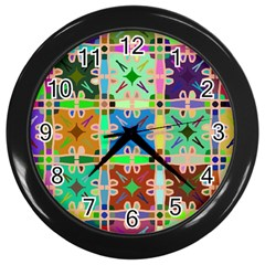 Abstract Pattern Background Design Wall Clocks (black)