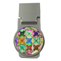 Abstract Pattern Background Design Money Clips (Round)