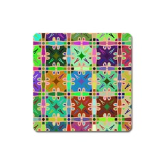 Abstract Pattern Background Design Square Magnet