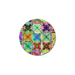 Abstract Pattern Background Design Golf Ball Marker (10 Pack)
