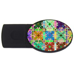 Abstract Pattern Background Design Usb Flash Drive Oval (2 Gb)