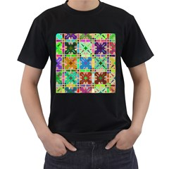 Abstract Pattern Background Design Men s T Shirt (black) (two Sided)