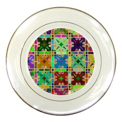 Abstract Pattern Background Design Porcelain Plates