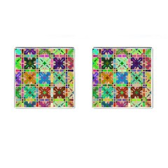 Abstract Pattern Background Design Cufflinks (square)