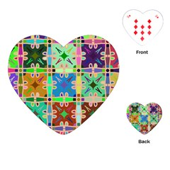 Abstract Pattern Background Design Playing Cards (heart)