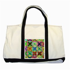 Abstract Pattern Background Design Two Tone Tote Bag