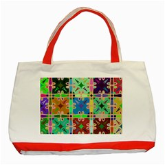 Abstract Pattern Background Design Classic Tote Bag (red)