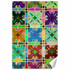 Abstract Pattern Background Design Canvas 24  X 36
