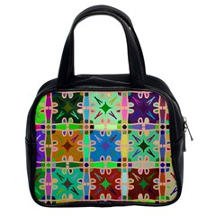 Abstract Pattern Background Design Classic Handbags (2 Sides)