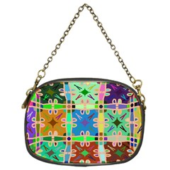 Abstract Pattern Background Design Chain Purses (two Sides)
