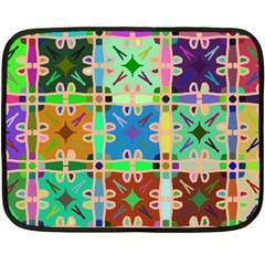 Abstract Pattern Background Design Fleece Blanket (mini)