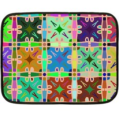 Abstract Pattern Background Design Double Sided Fleece Blanket (mini)