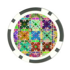 Abstract Pattern Background Design Poker Chip Card Guards (10 pack)