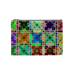 Abstract Pattern Background Design Cosmetic Bag (medium)