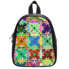 Abstract Pattern Background Design School Bags (small)