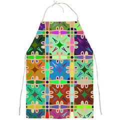 Abstract Pattern Background Design Full Print Aprons