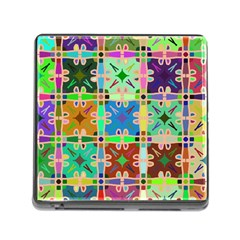 Abstract Pattern Background Design Memory Card Reader (square)