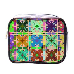 Abstract Pattern Background Design Mini Toiletries Bags
