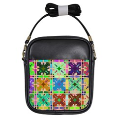 Abstract Pattern Background Design Girls Sling Bags