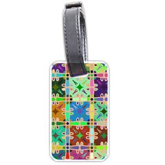 Abstract Pattern Background Design Luggage Tags (one Side)